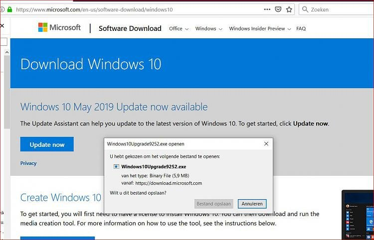 manually download may 2019 update