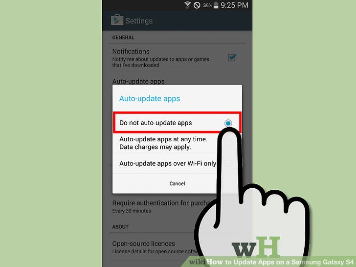 how to manually update apps on samsung galaxy s4