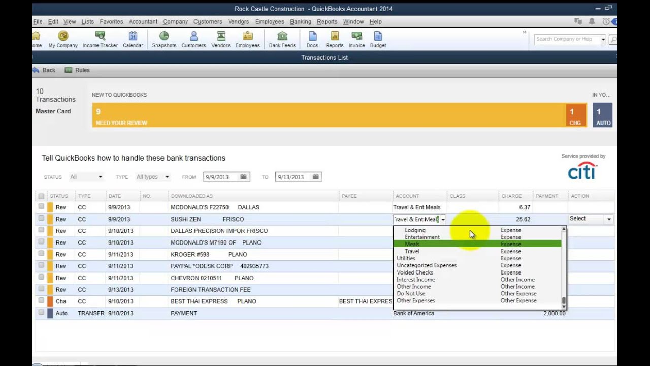 manual bank download on quickbooks online