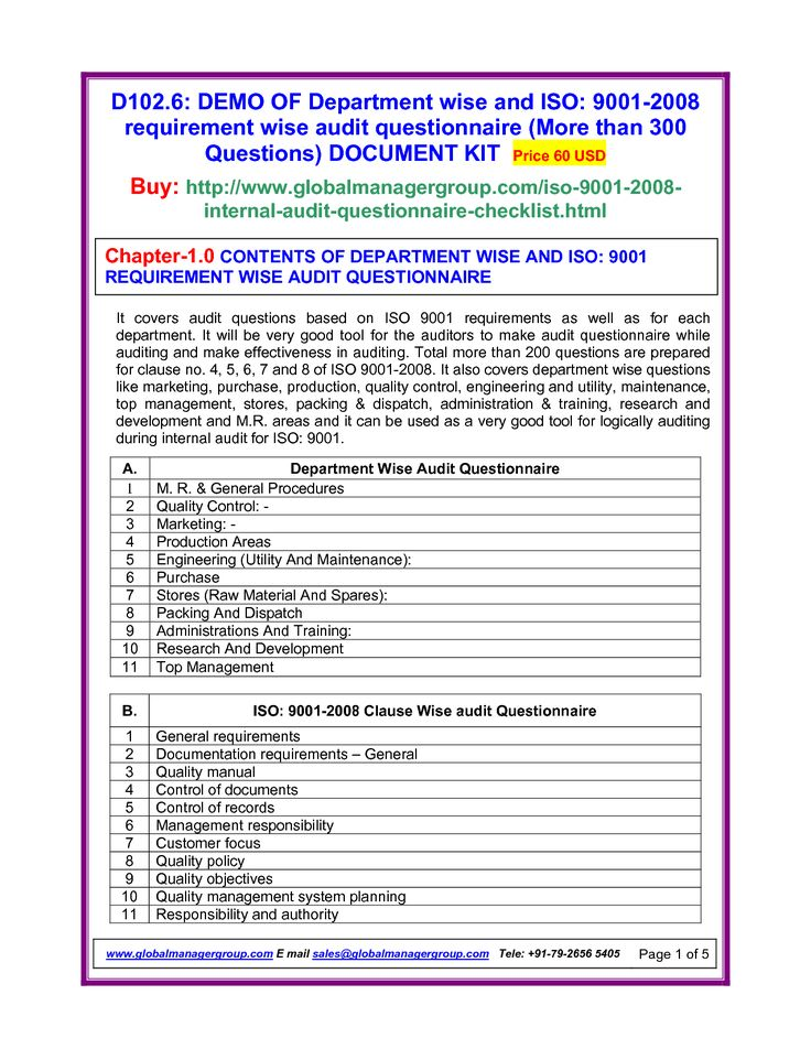 iso 9001 version 2008 quality manual free download